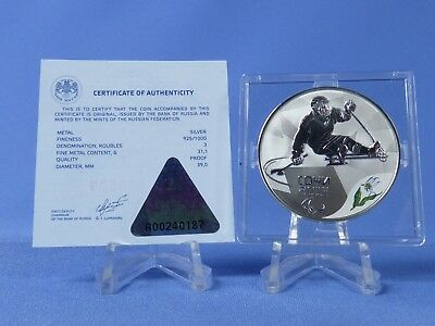Russland 3 Rubel 2014 ,Winter Paralympics ,Silber *PP/Proof* (19312 )