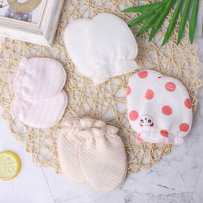 1 Pair Baby Gloves Anti Scratch Face Protection Soft Blend Cotton Winter Mittens