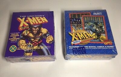 X-Men Series 1 (1992) & Series 2 (1993) Trading Cards Factory Sealed Boxes - NEW