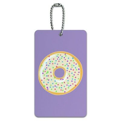 Cute Donut Pastel Sprinkles Spring Yummy Luggage Card Suitcase Carry-On ID Tag