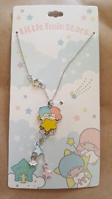 Little Twin Stars Dangle Necklace Official Sanrio Jewelry Unico Care Bears *New*