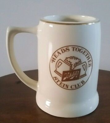 "Schlitz, HEADS TOGETHER STEIN CLUB, OLD ENGLISH PUB, KS 4 3/4"" Vintage Beer Mug!"