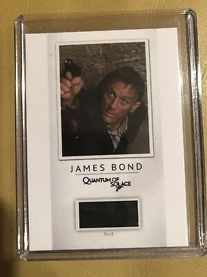 2016 James Bond Classics Relic Costume Prop card PR5 Daniel Craig Suit /200