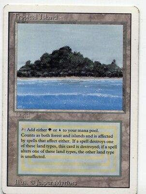 Tropical Island dual land revised 2nd edition MTG