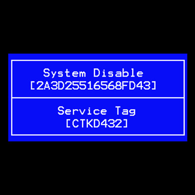 Dell  16 Hex Digits /tag Bios Password Removal