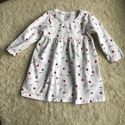 Old Navy 12-18 Months Swing Playdate Dress Cats Hearts
