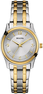 Bulova Women's 98L218 Corporate Collection Quartz Silver Dial Two-Tone 31mmWatch
