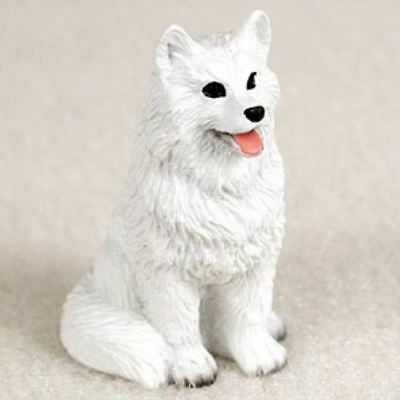 AMERICAN ESKIMO  TINY ONES DOG Figurine Statue Pet Lovers Gift Resin