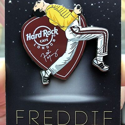 Hard Rock Cafe London Freddie Mercury Queen Pin Badge Limited Edition!