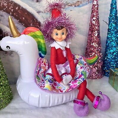 6pc Adorable Christmas ELF that sits on the shelf Unicorn  outfit w/ accessories