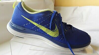 best sneakers 473c6 d6ca6 Nike FlyKnit Lunar 1 + Game Royal Volt Yellow Tint 554887-474 size 11