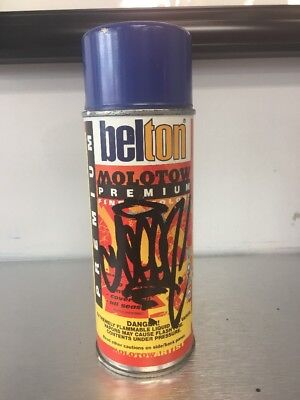 Rare Vtg. Belton Molotow Spraycan Signed Autographed By Seen. Night Blue.