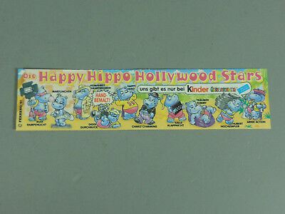 Hpf-Bpz : Happy Hippo Hollywood 1997 ( Variante Lisse Papier)