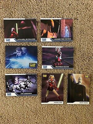 2008 Topps Star Wars Clone Wars Trading Cards Mixed Lot of 7