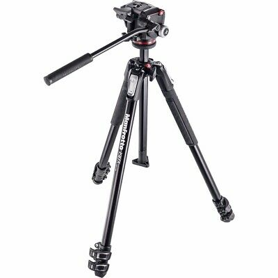 """Manfrotto 190X 3 Section Aluminum Tripod with XPRO Fluid Head, 63"""" Max Height"""