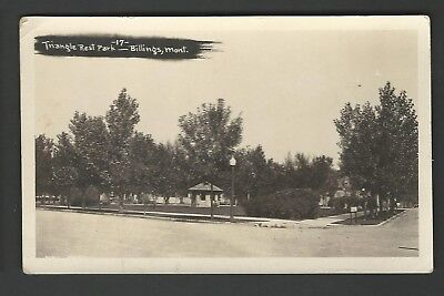 BILLINGS MONTANA Triangle Rest Park RPPC Real Photo Postcard