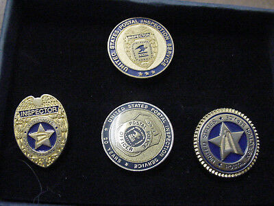 vintage lot of 4 united states postal inspection services lapel pin