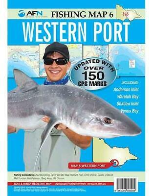 AFN FISHING MAPS Western Port (Vic) Map 6 Tear & Water Resistant Map