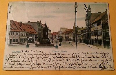 Great View  C1900 Postcard  Dessau  Germany  Tied  Stamps  377