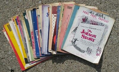 Lot of 50 sheet music assorted collection 30's to 50's vintage piano antique