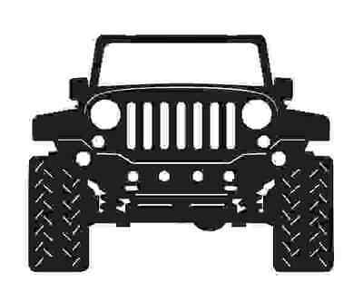 Jeep - DXF File Ready For Plasma or Laser Cutting