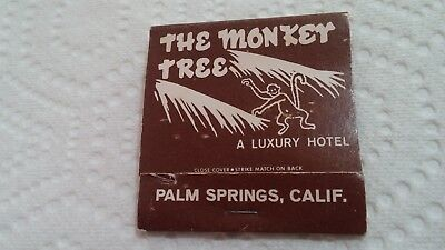 Vintage Matchbook The Monkey Tree Hotel Palm Springs CA Used with Wear