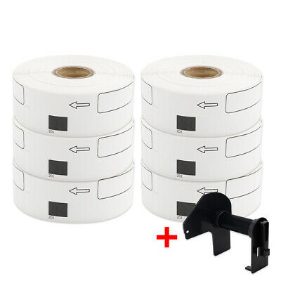 DK-1201 DK11201 White Paper Labels Shipping Address for Brother+carriage 6 Rolls