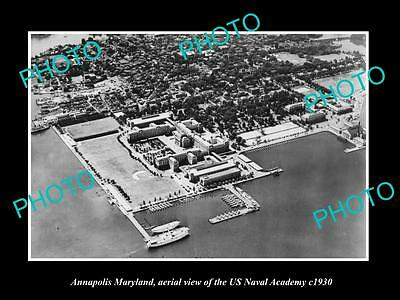 OLD LARGE HISTORIC PHOTO OF ANNAPOLIS MARYLAND, THE US NAVY ACADEMY c1930