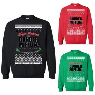 Happy Holiday Dunder Mifflin Paper The Office Sweatshirt Ugly Christmas Sweater