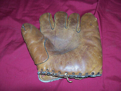 WWII Dubow US Army Special Services Baseball Glove Mitt Old Vintage Collectible