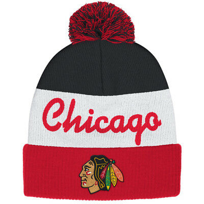 a5a1be572b1 CHICAGO BLACKHAWKS NHL Reebok Center Ice Hat Cap Men s Cuffed Knit ...