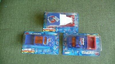 LOT of 3 VINTAGE PEPSI-COLA MATCHBOX TRUCKS NEW IN BOX