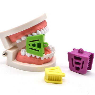 3Pc Dental Bite Block Retractor Opener Silicone Mouth Props Cushion Adult/Child
