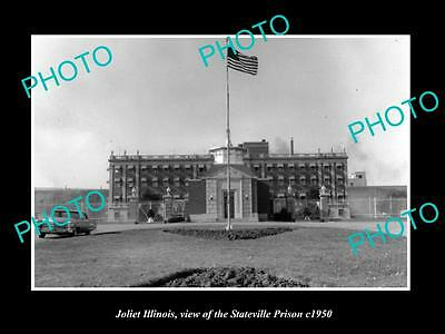 Old Large Historic Photo Of Joliet Illinois, View Of The Statesville Prison 1950