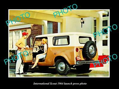 Old Large Historic Photo Of International Scout 1964 Launch Press Photo