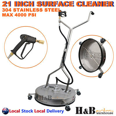 """21"""" High Pressure Surface Cleaner Stainless Steel 4000 PSI Industrial Grade Sale"""