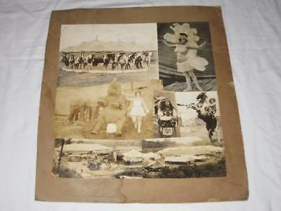 Orig Photo Collage Native American Indian Photograph Etc. Christy Bros Circus