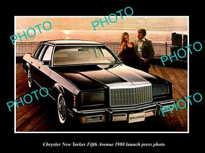Old Large Historic Photo Of Chrysler New Yorker Fifth Avenue 1980 Press Photo