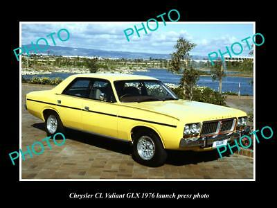 Old Large Historic Photo Of 1976 Chrysler Cl Valiant Glx Launch Press Photo