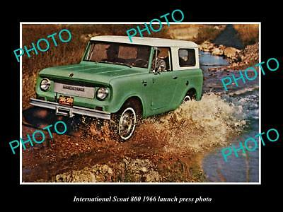 Old Large Historic Photo Of International Scout 800 1966 Launch Press Photo