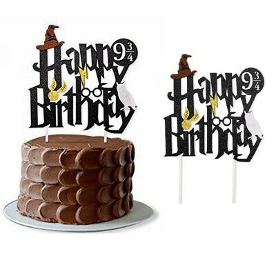 Harry Potter Happy Birthday Cake Topper Bunting Party Decoration Anniversary