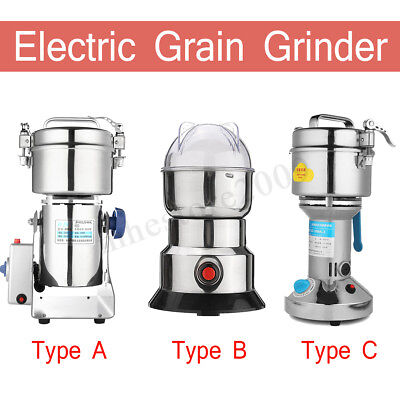 Electric Herb Bean Grain Mill Grinder Wheat Cereal Flour Powder Machine