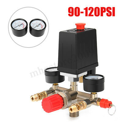 Solid 90-120PSI Air Compressor Pump Pressure Switch Control Valve Heavy