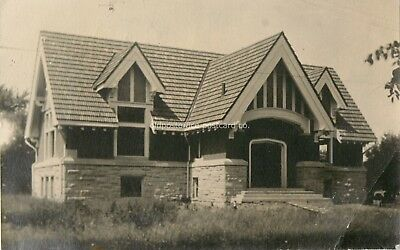 Durand, Wisconsin-Carnegie Library Building c1907 WI RPPC Real Photo Postcard