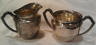 Alvin Sterling Silver Sugar and Creamer set No. X23 ~ 154.66g Scrap Weight