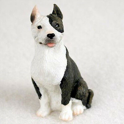 PIT BULL TERRIER PITBULL TINY ONES DOG Figurine Statue Pet Resin Brindle
