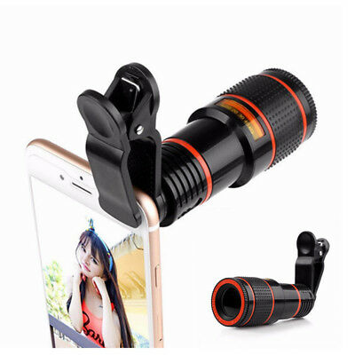 Optical Zoom Clip on Camera Lens Phone Telescope Lens For iPhone X XS Samsung S9