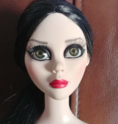 Evangeline Ghastly Nude Doll - 'dark Angel' - Rooted Raven Hair - Unique Beauty