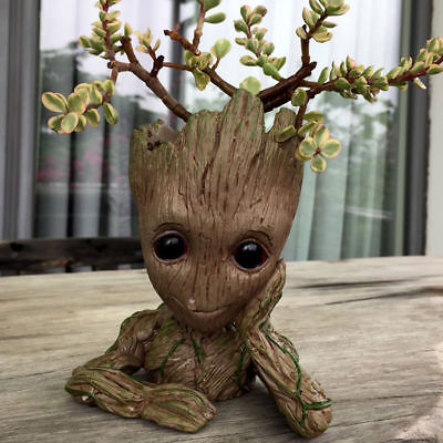 Baby Groot Planter Tree Man Figure Flower Pot Guardians of The Galaxy Gift
