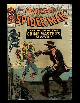 Amazing Spider-Man #26 VG- Ditko 4th Green Goblin 1st Crime-Master Liz Allan